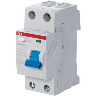 выключатель дифференциального тока ABB 10мА тип AC F202 2 полюса 16 А 2CSF202001R0160
