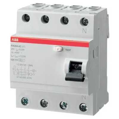 выключатель дифференциального тока ABB 30мА тип AC FH204 4 полюса 63 А 2CSF204004R1630