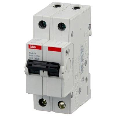 автоматический выключатель ABB Basic M 2P (C) 4.5kA 25 А 2CDS642041R0254