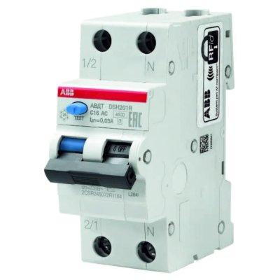 автомат дифференциальный ABB DSH201R 2П 30 мА C 4.5 кА AC 32 А 2CSR245072R1324