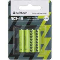 Батарейка солевая Defender R03-4B