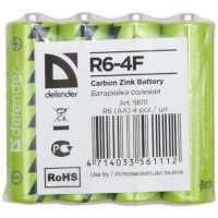 Батарейка солевая Defender R6-4F
