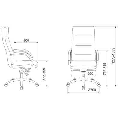 офисное кресло Бюрократ T-9927SL-CHOKOLATE