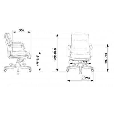 офисное кресло Бюрократ T-9927WALNUT-LOW/IV