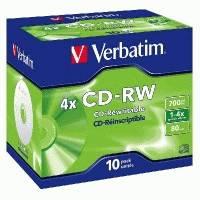 Диск CD-RW Verbatim 43123