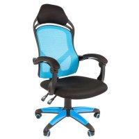Игровое кресло Chairman game 12 Black-Blue