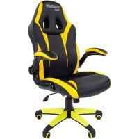 Игровое кресло Chairman game 15 Black-Yellow