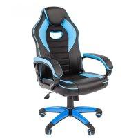 Игровое кресло Chairman game 16 Black-Blue