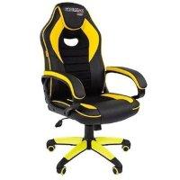 Игровое кресло Chairman game 16 Black-Yellow