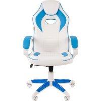 Игровое кресло Chairman game 16 White-Blue