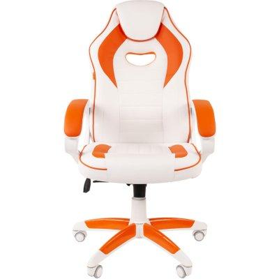 игровое кресло Chairman Game 16 White-Orange