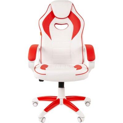 игровое кресло Chairman Game 16 White-Red