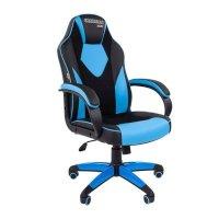 Игровое кресло Chairman game 17 Black-Blue