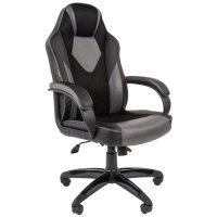 Игровое кресло Chairman game 17 Black-Grey