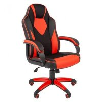 Игровое кресло Chairman game 17 Black-Red