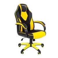 Игровое кресло Chairman game 17 Black-Yellow