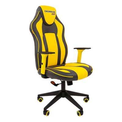 игровое кресло Chairman Game 23 Grey-Yellow
