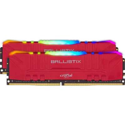 оперативная память Crucial Ballistix Red RGB BL2K32G32C16U4RL