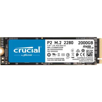 SSD диск Crucial P2 2Tb CT2000P2SSD8