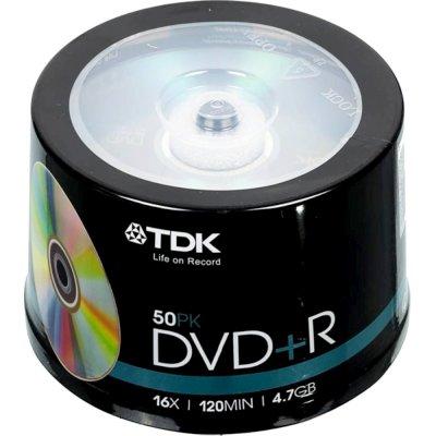 диск DVD-R TDK 4,7Gb 16x 50шт Cake box