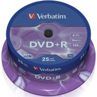 Диск DVD+R Verbatim 43500