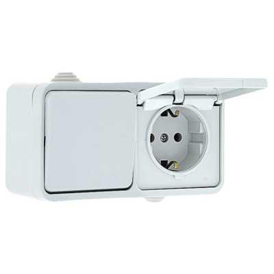 блок розетка-выключатель EKF Прага EKRV16-050-10-440