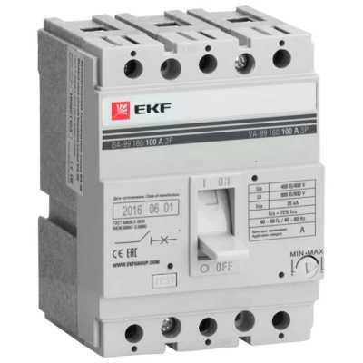 автоматический выключатель EKF ВА-99/160 3P (термомагнитный) 35kA 100 А mccb99-160-100