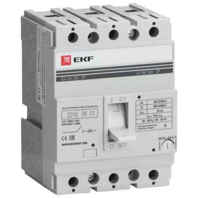 автоматический выключатель EKF ВА-99/160 3P (термомагнитный) 35kA 125 А mccb99-160-125