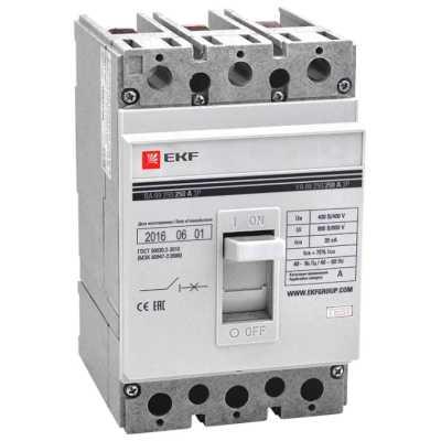 автоматический выключатель EKF ВА-99/250 3P (термомагнитный) 35kA 250 А mccb99-250-250