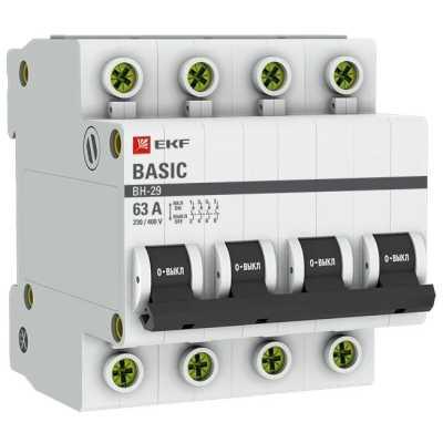 выключатель нагрузки EKF ВН-29 4P 2kA 63 А SL29-4-63-bas