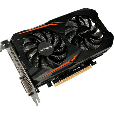 видеокарта GigaByte nVidia GeForce GTX 1050 Ti 4Gb GV-N105TOC-4GD