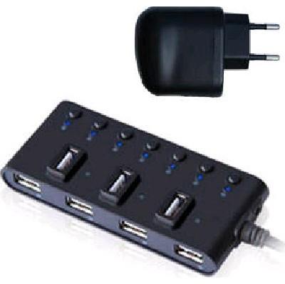 разветвитель USB Ginzzu GR-487UAB