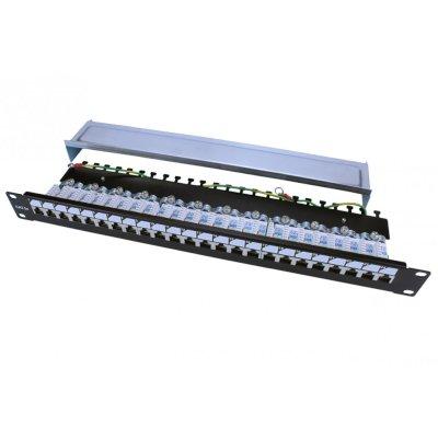 патч-панель Hyperline PP3-19-24-8P8C-C5E-SH-110D