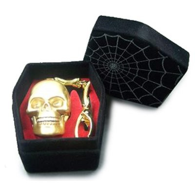флешка Jet.A 8GB USB Flash Drive Skull Gold