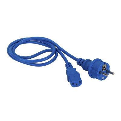 кабель питания Lanmaster LAN-PP13-SH-1.0-BL
