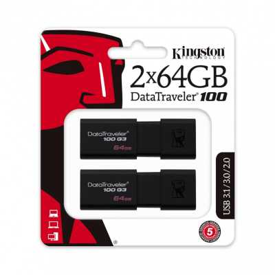 флешка Kingston 64GB DT100G3-64GB-2P