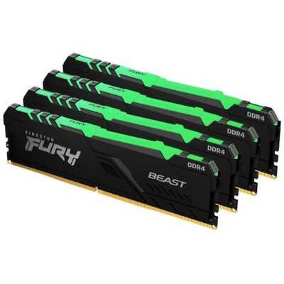 оперативная память Kingston Fury Beast RGB KF426C16BB1AK4/64