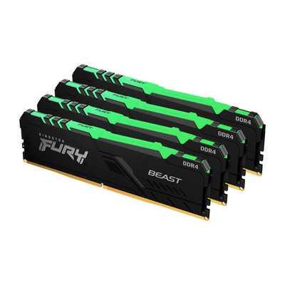 оперативная память Kingston Fury Beast RGB KF430C15BB1AK4/64