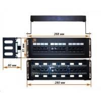 Патч-панель Lanmaster LAN-PPF12U5E/W