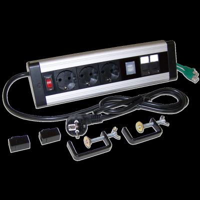 блок розеток Lanmaster LAN-WA-DC-3G+2UC+2C6