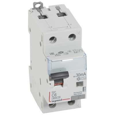 автомат дифференциальный Legrand DX3 30mA 6A 1П+N Тип AC 410999