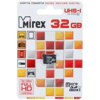 Карта памяти Mirex 32GB 13612-MCSUHS32