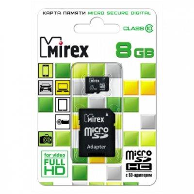 карта памяти Mirex 8GB 13613-AD10SD08