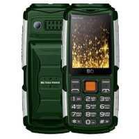 Мобильный телефон BQ 2430 Tank Power Green-Silver