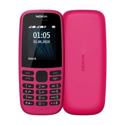 мобильный телефон Nokia 105 Dual sim Pink