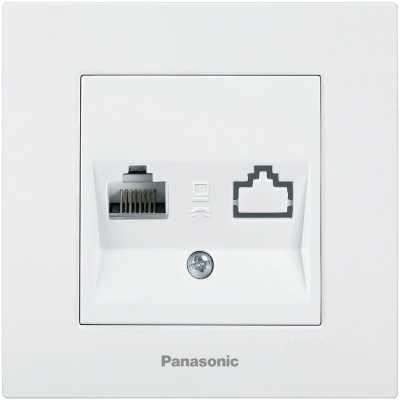 розетка компьютерная Panasonic Karre Plus WKTC04042WH-RU
