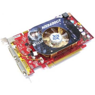 видеокарта PCI-Ex 256Mb MSI NX8600GT-T2D256EZ-OC