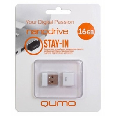 флешка Qumo 16GB QM16GUD-NANO-W