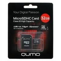 Карта памяти Qumo 32GB Class 10 QM32GMICSDHC10U1