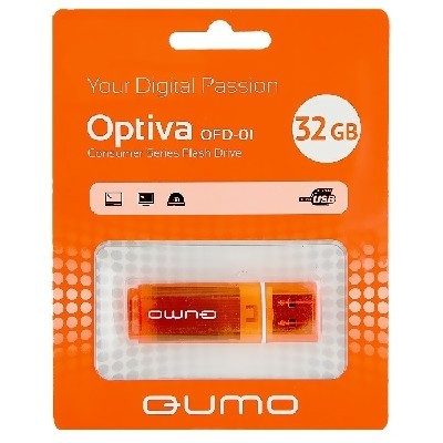 флешка Qumo 32GB Optiva 01 QM32GUD-OP1-orange